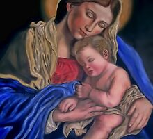 Mary and baby Jesus by terrysita1