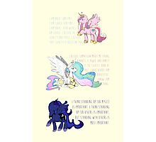 I Am A Princess [MLP Princesses] Photographic Print