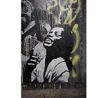 "Banksy Style Stencil Graffiti -  ""Happy"" Photographic Print"