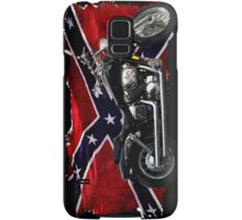 Cool Confederate Rebel Flag and Motorcycle Samsung Galaxy Case/Skin