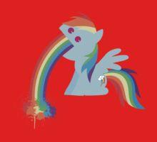 Rainbow Dash Rainbow Vomit Kids Clothes