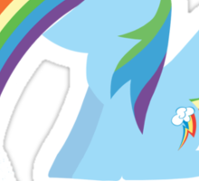 Rainbow Dash Rainbow Vomit Sticker