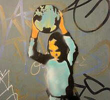 "Banksy Style Stencil Graffiti -  ""World Games"" by Punk60"