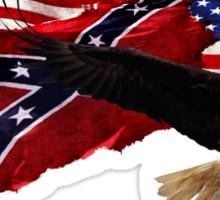 Confederate Flag, US Flag, Bald Eagle,Patriotic Sticker