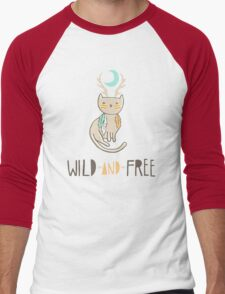 Wild and Free Men's Baseball ¾ T-Shirt