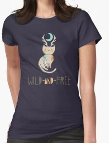 Wild and Free Womens Fitted T-Shirt