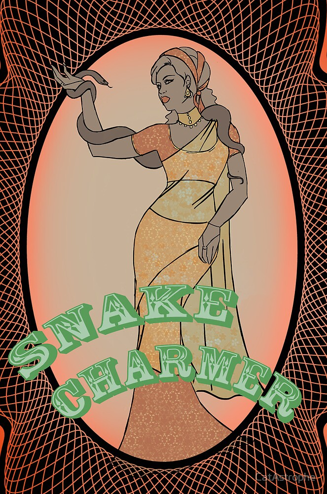 Golden Age of Sideshow - Snake Charmer by CatAstrophe