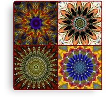 Colorful Kaleidoscope Collage Canvas Print