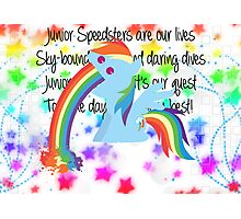 Rainbow Dash Rainbow Vomit Photographic Print