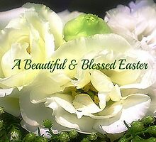 Lisianthus makes a beautiful card for Easter by EdsMum