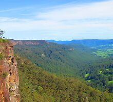 Kangaroo Valley from Hindmarsh Lookout by Michael John