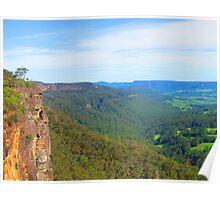 Kangaroo Valley from Hindmarsh Lookout Poster