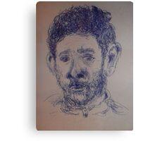 Self-portrait/Close up -(270313)- A5 Sketchbook/Blue biro pen Canvas Print