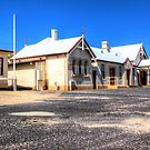 Cooma Railway Station Front View  NSW Australia  by Kym Bradley