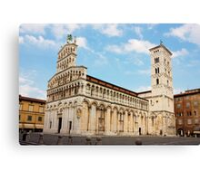 Basilica San Michele in Foro in Lucca, Italy Canvas Print