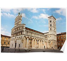 Basilica San Michele in Foro in Lucca, Italy Poster