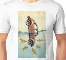 VW beetle and goldfish Unisex T-Shirt