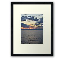 Behind the Mountains Framed Print