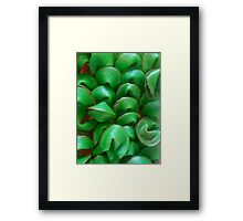 Green with Fortune Framed Print