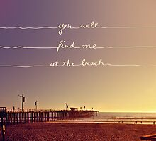 You will find me at the beach by Mareike Böhmer