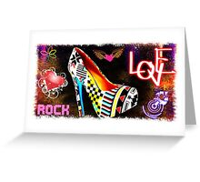 LOVE AND ROCK Greeting Card