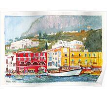 Port of Capri, Italy Poster