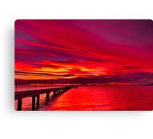 """Rippleside Dawn Roar"" Canvas Print"
