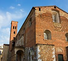 The Church of San Romano facade in Lucca Italy by kirilart
