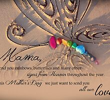 Rainbows and Butterflies from Heaven - Mother's Day - Multiple Children by CarlyMarie