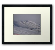 Sun Drenched Snow Ice Framed Print