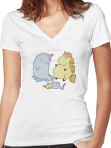 Wannabes Women's Fitted V-Neck T-Shirt