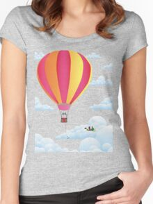 Picnic in a Balloon on a Cloud Women's Fitted Scoop T-Shirt