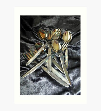 Silver WMF Spoons and Cake Forks Art Print