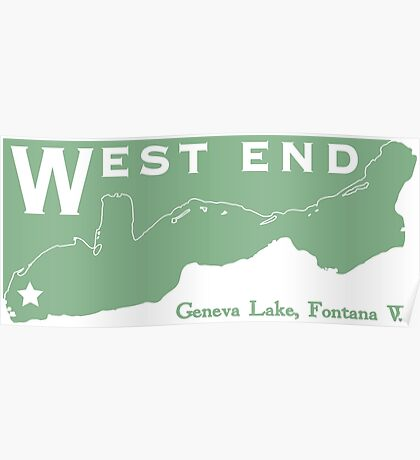 West End Geneva Lake Poster