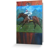 Frankel horse racing art Greeting Card