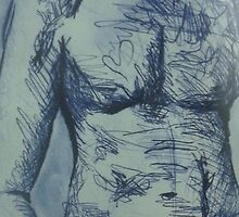 Male Nude study by Jellyscuds