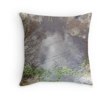 Barbed Wire Puddle  Throw Pillow