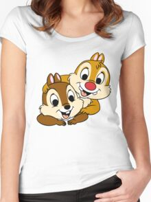 Funny Chip and Dale Women's Fitted Scoop T-Shirt