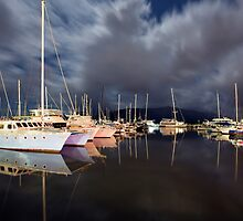 A late night at the marina... by Peter Doré