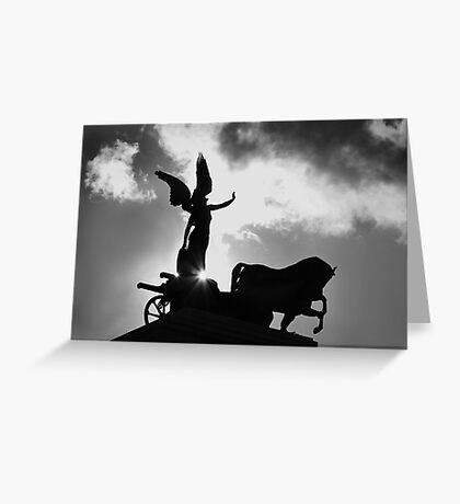 Angel and Chariot Statue - Rome Greeting Card