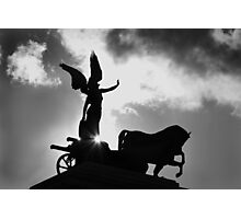 Angel and Chariot Statue - Rome Photographic Print