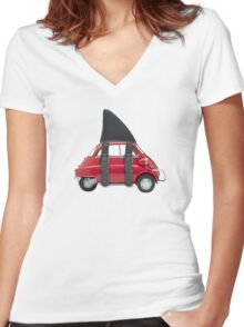 isetta shark Women's Fitted V-Neck T-Shirt