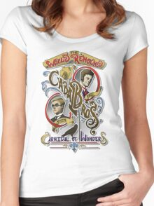 The World Renowned Cabal Bros Carnival of Wonders Women's Fitted Scoop T-Shirt