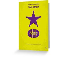 No190 My Toy Story minimal movie poster Greeting Card
