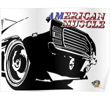 Dodge charger muscle car  Poster
