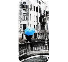 Blue Umbrella in Venice iPhone Case/Skin