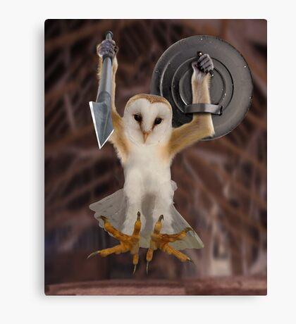 Spartan Gibbon Owl Canvas Print