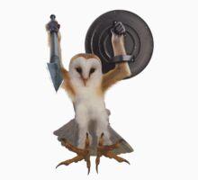 Spartan Gibbon Owl Kids Tee