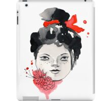 Freckled Watercolor Girl iPad Case/Skin