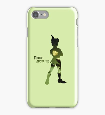 Never Grow Up Green iPhone Case/Skin